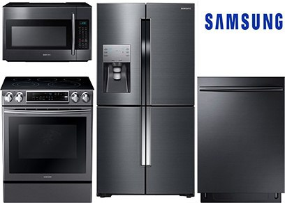 Samsung Black Stainless Kitchen Package