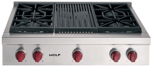 Wolf 36 Inch Pro Rangetop Srt364c Png